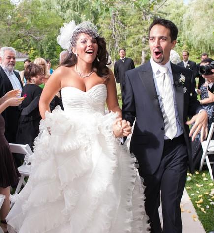 Lin Manuel Miranda Wedding.Lin Manuel Miranda Married Wife Kids Career Wiki Net Worth Bio