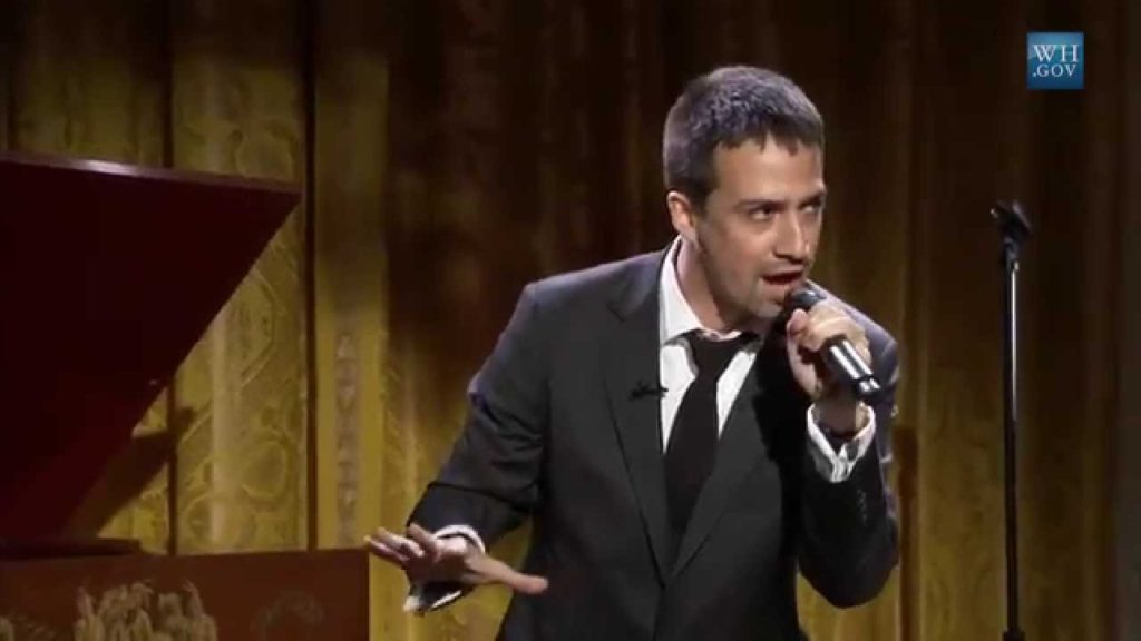 Lin-Manuel Miranda performed at the White House.