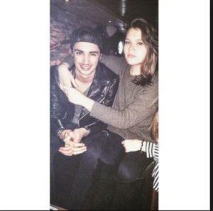 Camille with her former boyfriend