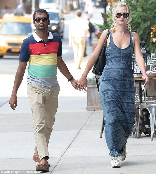 Courtney McBroom ex-boyfriend, Aziz Ansari.