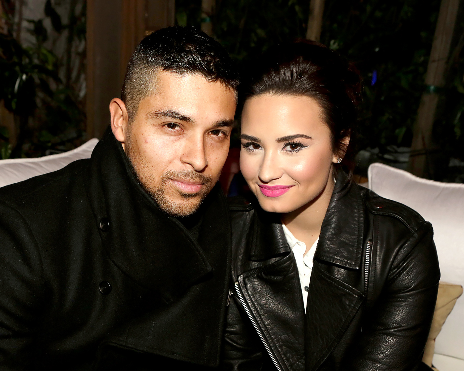 Wilmer Valderrama and his ex-girlfriend, Demi Lovato