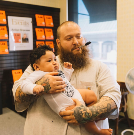 The Snippet of Action Bronson Holding a Child