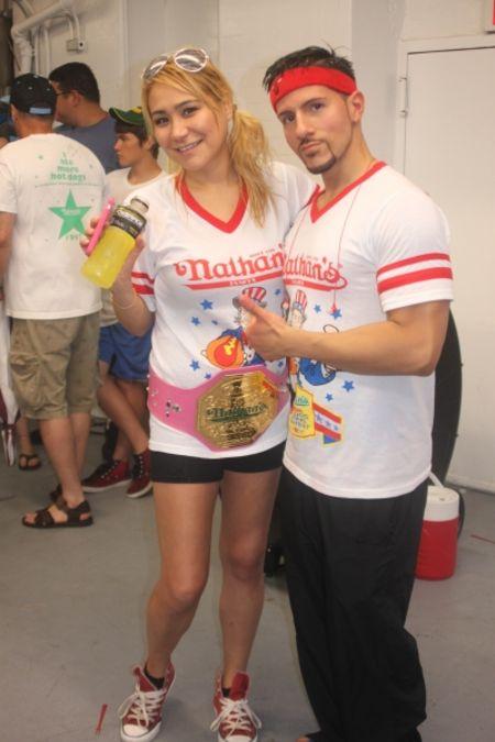 Miki Sudo With her former boyfriend Juan Rodriguez