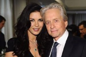Wife and husband, Catherine Zeta-Jones and Michael Douglas