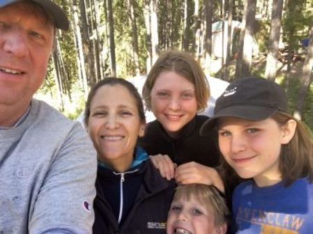 Chrystia Freeland with her husband and kids