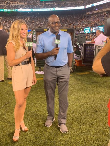 Have a look at a sports journalist, Cynthia Frelund