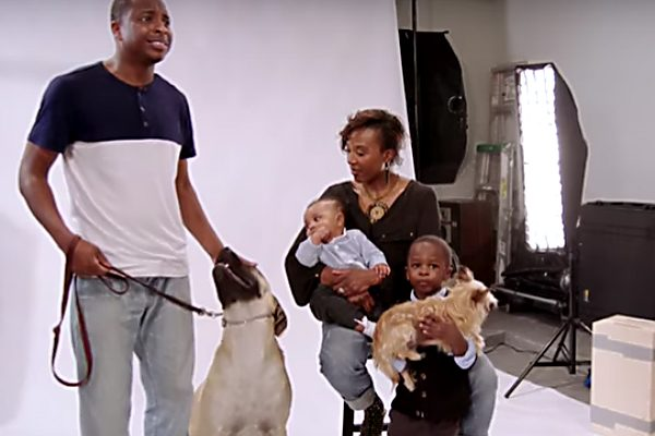 Dr. Diarra Blue family: wife, sons, and pets