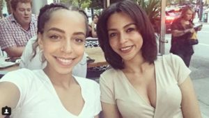 Hayley Law with her sister, Brittany