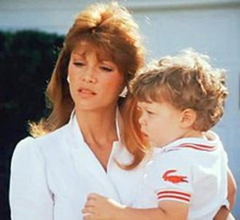 Amy Stoch With her son