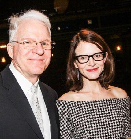 Anna Stringfield with her husband Steve Martin