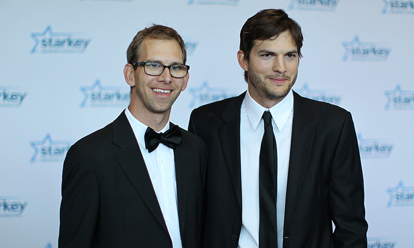Ashton Kutcher and His Brother Michael in an Event Source hellomagazine