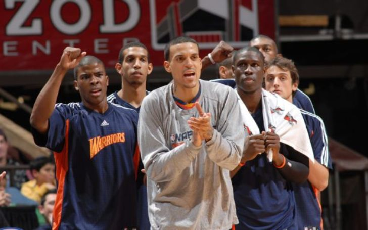 Matt Barnes with his team, Golden State Warriors