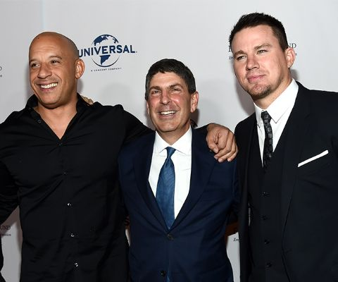 Channing Tatum, Vin Diesel and Jeff Shell at Fulfillment Fund