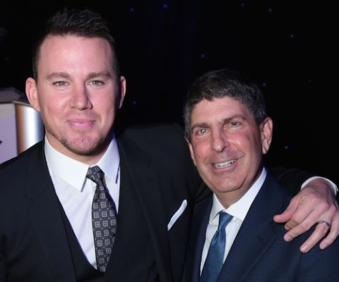 Channing Tatum and Jeff Shell taking a picture together
