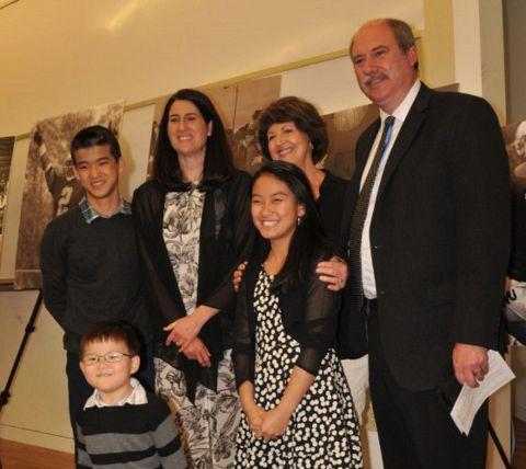 Kerri Browitt Caviezel and her children at a Event