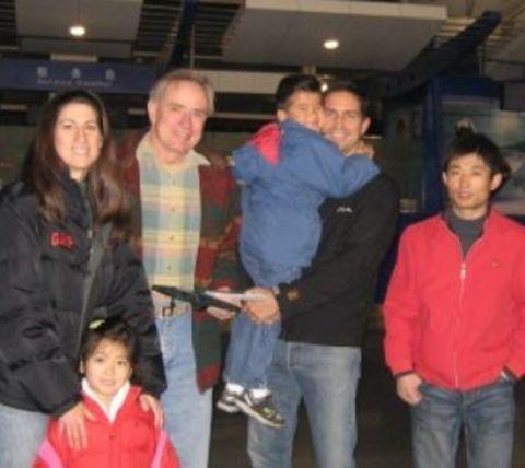 Kerri Browitt Caviezel with her children and husband Jim Caviezel