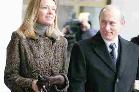 Mariya Putina with father Vladimir Putin
