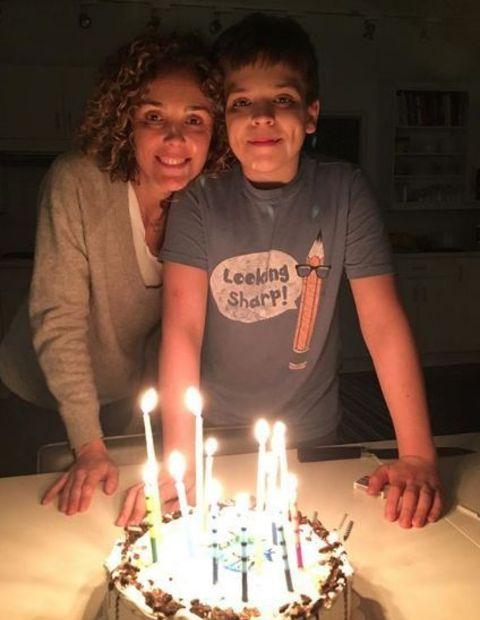Rishia with her Son