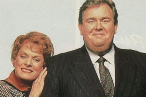 Rosemary Margaret Hobor with her late John Candy
