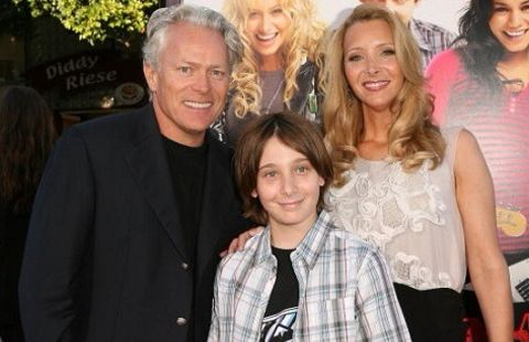 Michael Stern with Lisa Kudrow with Julian