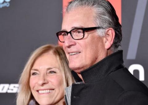 Skip Bayless with his wife Ernestine Sclafani