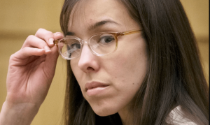 Jodi Arias in the trial room