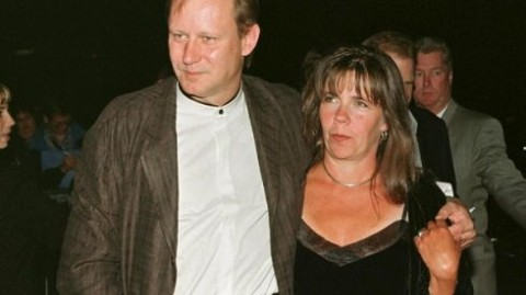 Skarsgard with his first wife