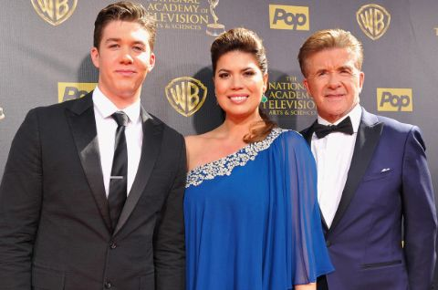 Ginna Tolleson's son Carter Williams with father Alan Thicke and step mom
