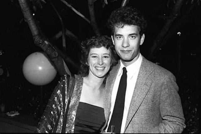 Samantha Lewes with Tom Hanks