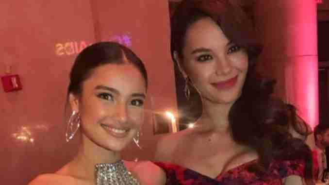 Catriona Gray and Kelsey Merritt at the amfAR Gala