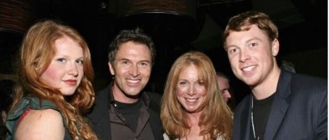 Amy Van Nostrand and Tim Daly with their son and daughter