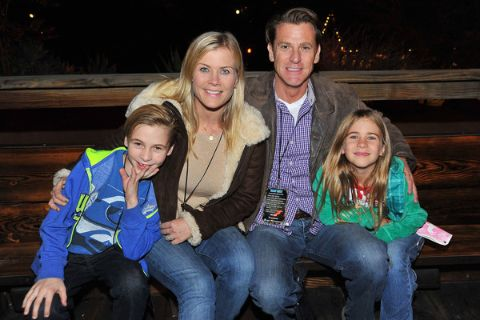 Alison Sweeney with her husband David Sanov along with her son and daughter