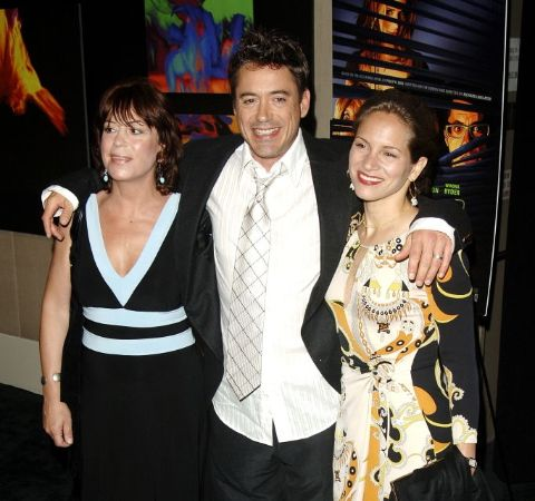Allyson, Robert Downey Jr with his wife at the movie release