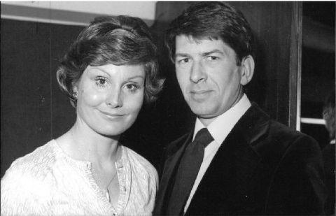 Angela Rippon with husband Chris Dare