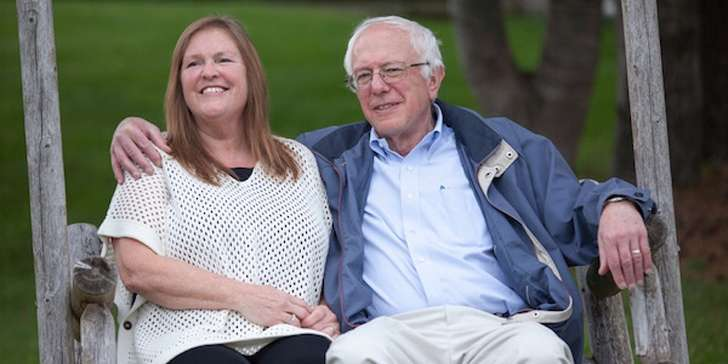 Bernie Sanders and his spouse Jane O'Meara Driscoll