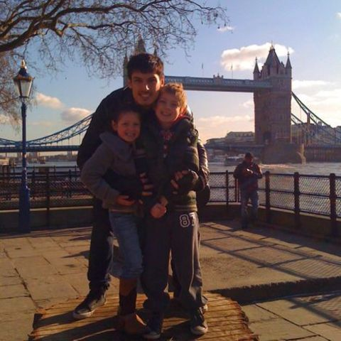 Chris Appleton and his children