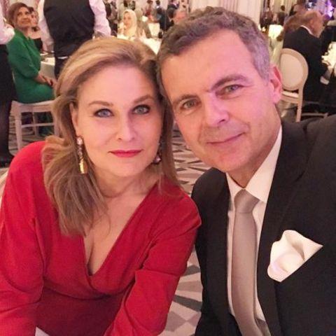 Hala Gorani and her husband Christian Streib