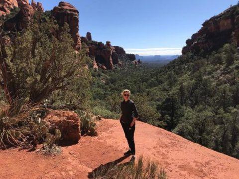 Hala Gorani on a hike