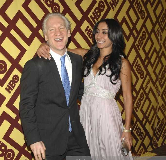 Jasmine Boussem with her ex-lover Bill Maher at an event