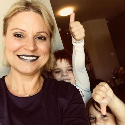 Jennifer Westhoven with her children