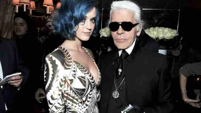 Katy Perry dedicates shoesday to late designer Karl Lagerfeld