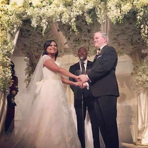 Kristen Welker and John Hughes on their Wedding day
