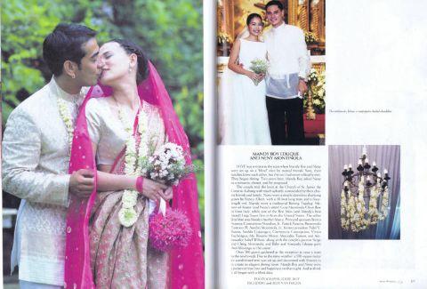 Raymond Bagatsing and Lara Fabregas marriage photo