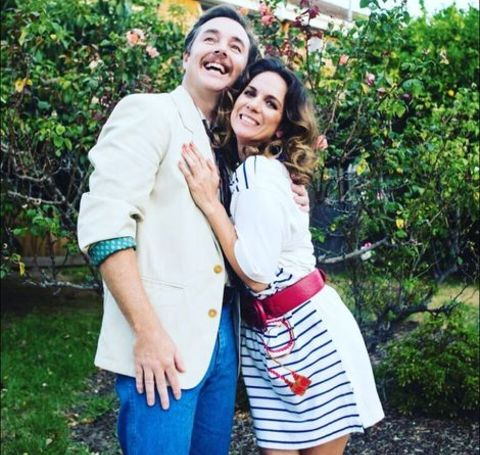 Michala Banas with her boyfriend Toby Truslove