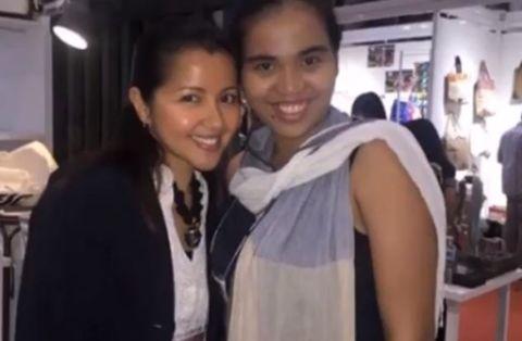 Monina Bagatsing with her co-worker