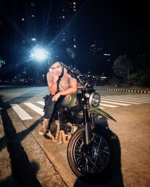 RK Bagatsing Posing on His Motorbike