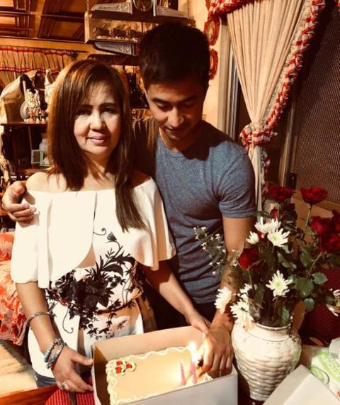 RK Bagatsing and His Mother on Her Birthday