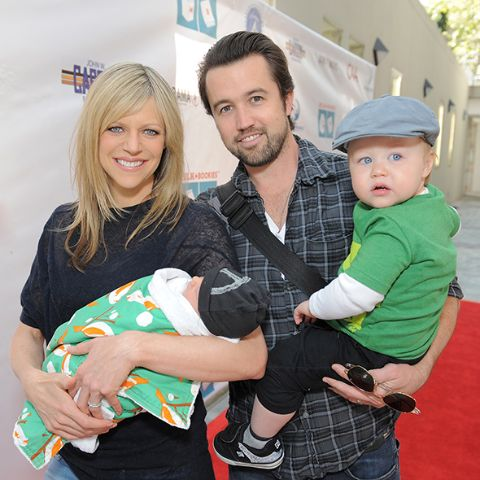 Rob McElhenney with his wife and kids