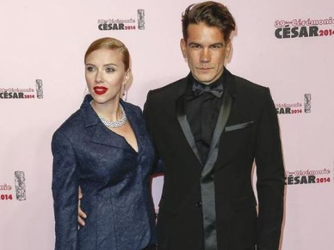 Romain Dauriac with his ex-wife Scarlett Johansson