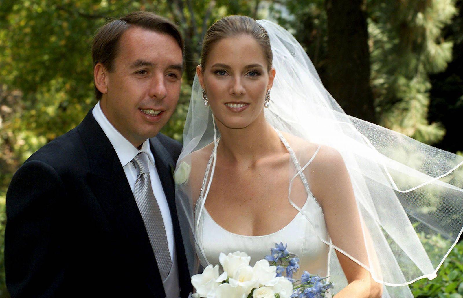 Sharon Fastlicht Kurian with her partner Emilio Azcarraga Jean